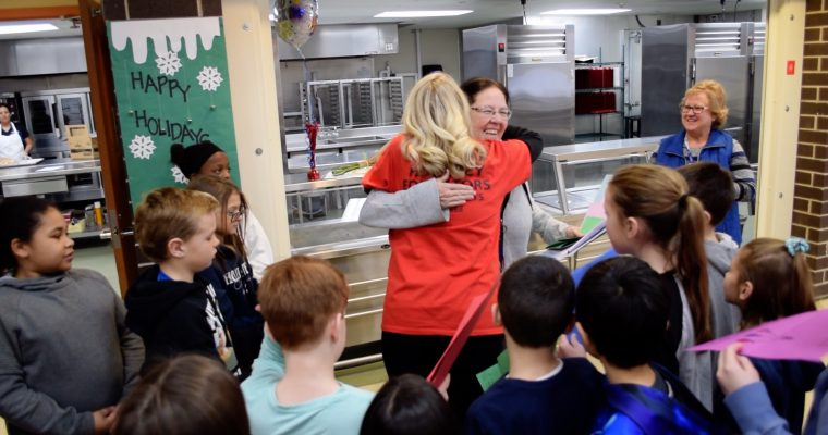 VIDEO: Surprise Squad Honors School Teachers, Employees of the Year