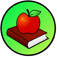 Book with apple