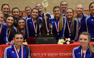 HHS Poms Team with Second Place State Trophy