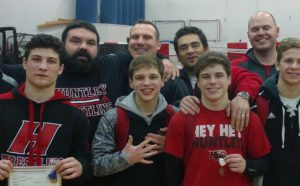 BJ Bertelsman with HHS Wrestlers