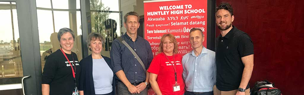 HHS staff with visitors from Australia