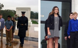 Students Lay Wreath at Tomb of the Unknowns
