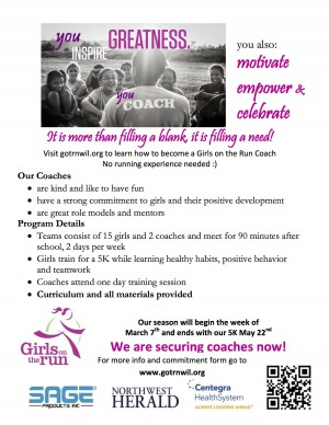 10.30.15 - Girls on the Run Coaches Needed