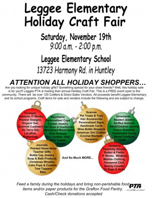 Leggee Holiday Craft Fair