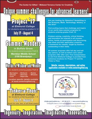 Center for Gifted flyer