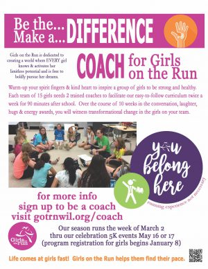 Girls on the Run Coaches Needed