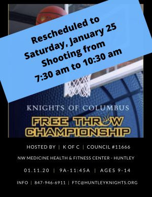 Rescheduled Free Throw Competition
