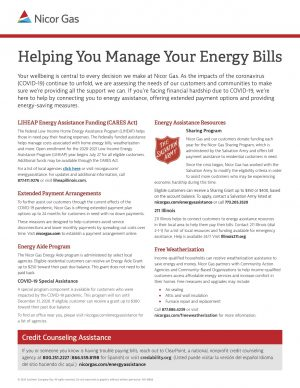 Nicor Energy Assistance Info