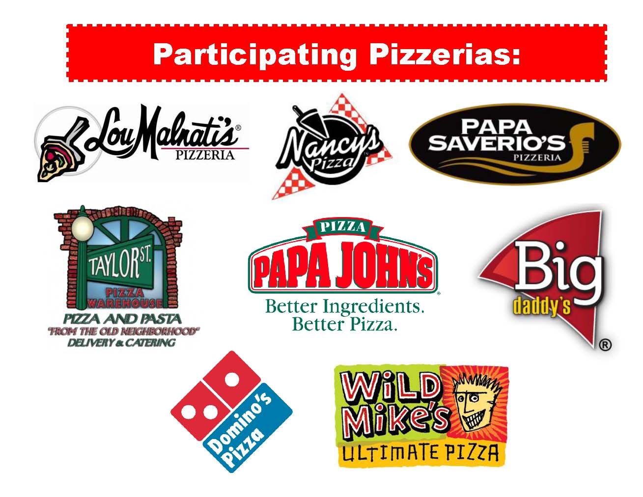 Participating Pizzerias 8