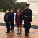 Students at Arlington National Cemetery