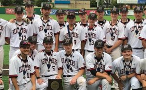 HHS Baseball Team with 2nd Place State Trophy