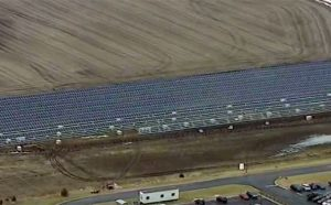 ABC 7 aerial shot of solar construction