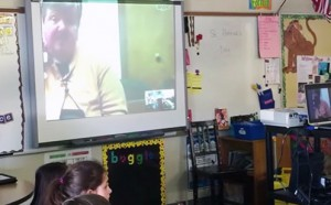 Conley Skypes with Brookfield Zoo