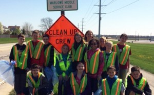 Marlowe Earth Day Cleanup
