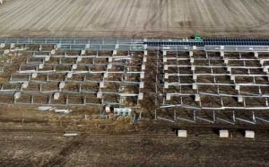 Aerial Photo of Huntley 158 Solar Project Installation